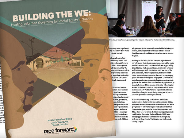 """Building The We"" report cover."