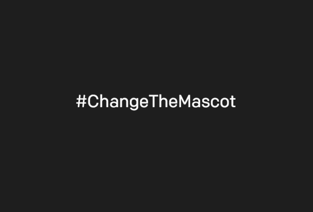 CHANGE THE MASCOT hashtag
