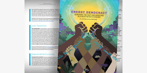 Energy Democracy Cover over layout of inner pages.
