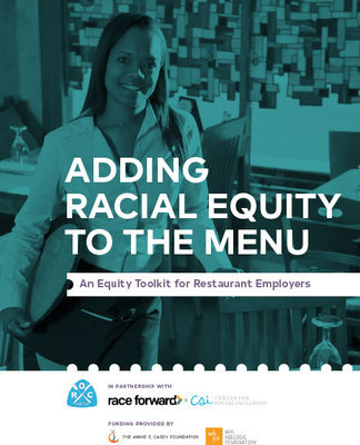"Cover of ""Adding Racial Equity to the Menu"""